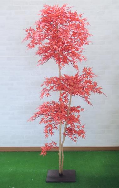 モミジレッド 150cm(造花 観葉植物 紅葉 赤 和風 ガーデニング 造園 庭園 坪庭 もみじ)