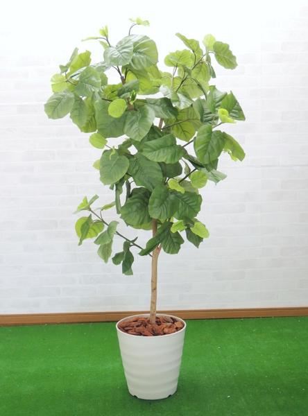 造花 インテリア おしゃれ 買い物 NEW 室内 人工 観葉植物 1.5m ディスプレイ グリーン 150cm 作り物 ウンベラータ 店舗 装飾 飾り フェイク