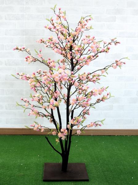 梅の木 (ウメ 造花 インテリア 観葉植物 人工 和風 エクステリア 100cm)