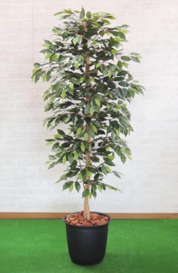 人工観葉植物 造花 人工樹木 フェイクグリーン 日本全国 送料無料 1.8m おしゃれ 大型 SALE ベンジャミンバイン インテリア 180cm