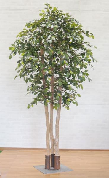 造花 インテリア 観葉植物 人工樹木 おしゃれ 室内 大型サイズのベンジャミン立ち木 グリーン 造木 樹木 ラッピング無料 高い素材 人工観葉植物 フェイク 高さ230cm