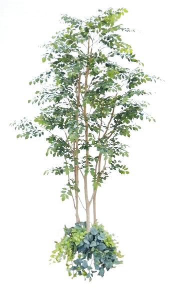 大型サイズ 北欧風な マウンテンアッシュ 植栽付き 高さ280cm (大きい 造花 インテリア 人工 観葉植物 植栽 鉢付き 室内 ディスプレイ 造作 オブジェ 2.8m)