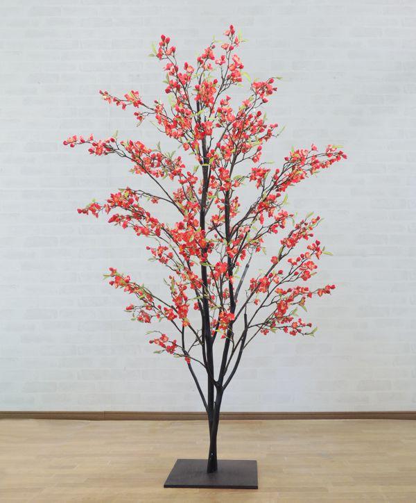 梅の木 150cm (ウメ 造花 インテリア 観葉植物 人工 和風 エクステリア 1.5m 室内 グリーンプラント 装飾 フェイク お正月 早春)