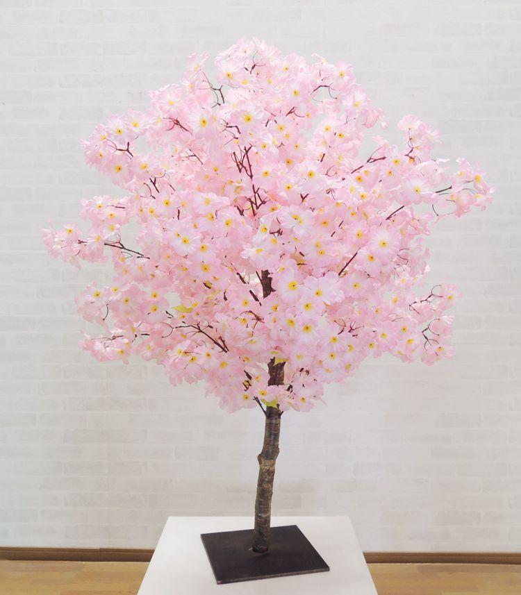 造花 桃 セールSALE%OFF ピンク 人工観葉植物 インテリア おしゃれ 室内 新作販売 大型 サクラ フェイクグリーン 飾り 作り物 春 120cm 桜 樹木