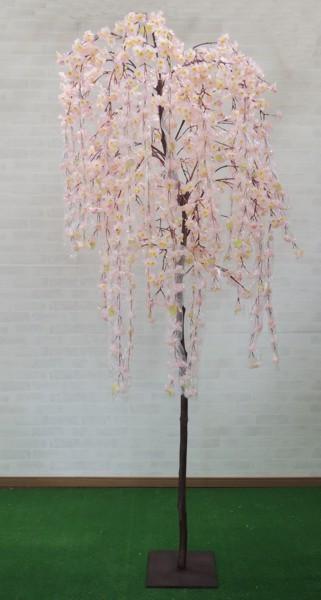 しだれ桜の木 (造花 サクラ ピンク 人工観葉植物 インテリア おしゃれ 室内 大型 春 飾り フェイクグリーン 作り物 樹木 230cm)