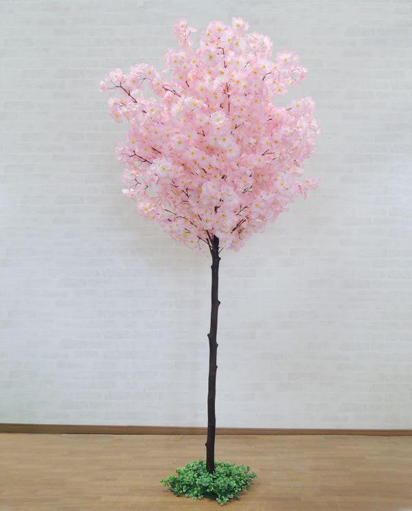 サクラ 210cm (造花 インテリア 観葉植物 桜 木 ピンク さくら 植栽 おしゃれ 大型 グリーン プラント ディスプレイ)
