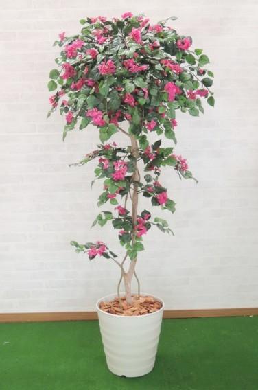 ブーゲンビリア 150cm (人工観葉植物 造花 1.5m おしゃれ 室内 インテリア フェイク グリーン 飾り 作り物 プランツ)