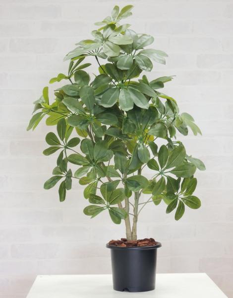 80cmカポックツリー (フェイク 造花 インテリア 観葉植物 シェフレラ おしゃれ 室内 小型 ミニサイズ 飾り 作り物 フェイクグリーン)