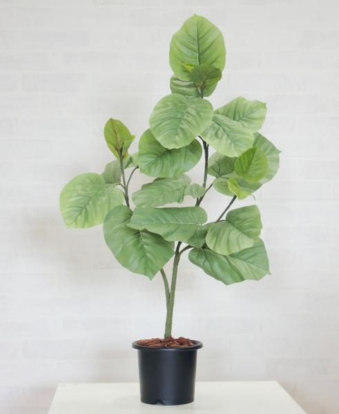 造花 インテリア おしゃれ 室内 人工 観葉植物 装飾 ディスプレイ フェイク 正規認証品 新規格 プランツ 作り物 グリーン 新作通販 ウンベラータ80cm 店舗 大きめ 葉