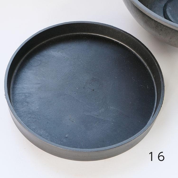 肉厚のブラックポットシリーズの受皿 ブラックポット用受皿 16cm サボテン 頑丈 塊根植物 おしゃれ コーデックス 黒プラスチック鉢 開店祝い 多肉 新作続