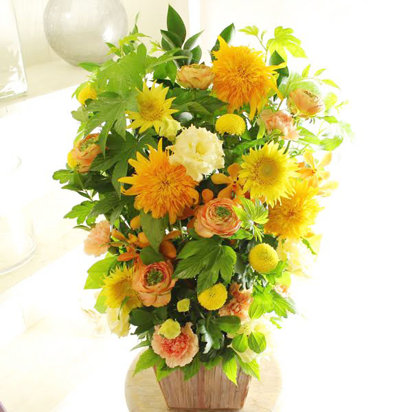 アレンジメントフラワーLサイズ Warm Warm Impressed(黄色・オレンジ系)※デザイナーが手がけるお洒落な一品誕生日 引越し祝い 結婚祝い 入籍祝い 移転 開店祝い 開業祝い 移転 引越し祝い 贈り物 フラワーギフト プレゼント お祝い お花 送料無料 メッセージカード無料 あす楽, リフォームネクスト:ca75d0ba --- sunward.msk.ru