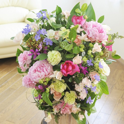 【電報(祝電)とお花を一緒にお届け】アレンジメントフラワーLサイズ Girlishness(ピンク系)誕生日 贈り物 結婚祝い 開店祝い お祝い 就任祝い 入学祝い 送料無料 就職祝い 贈り物 フラワーギフト プレゼント お祝い お花 送料無料 メッセージカード無料 あす楽, オートスナック:d66b233c --- sunward.msk.ru