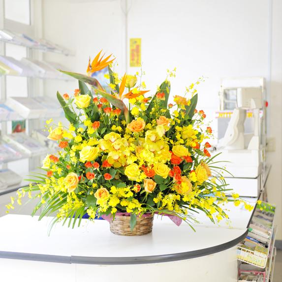 大型アレンジメントフラワー 黄色・オレンジ系2万円コース誕生日祝い 誕生祝い 誕生日 誕生 出生 バースディ 贈り物 フラワーギフト プレゼント お祝い お花 当日配送OK 送料無料 メッセージカード無料 あす楽