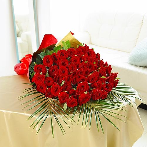 還暦祝いにピッタリ!高級赤バラ60本!誕生日祝い 結婚祝い 退職祝い 長寿祝い 還暦祝い 出演祝い 公演祝い プロポーズ バースデー 贈り物 フラワーギフト プレゼント お祝い お花 送料無料 メッセージカード無料 あす楽