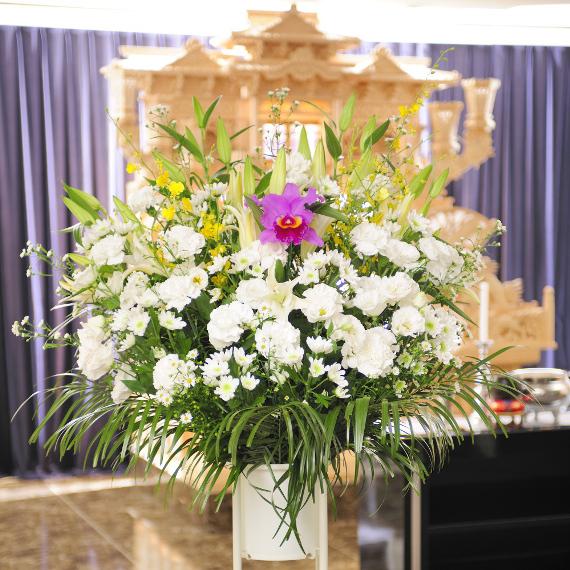 当日配送!葬儀花、供花、葬式花、お悔や花・お盆・お葬儀・ビジネスお供えに 【送料無料】【楽ギフ_メッセ入力】【あす楽】
