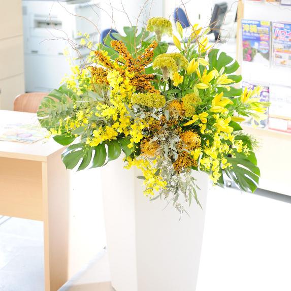デザイナーズスタンド Treasure Box(白) フレッシュ コース誕生日 結婚祝い 開店祝い 就任祝い 長寿祝い 新築祝い 就職祝い 退職祝い 贈り物 フラワーギフト プレゼント お祝い お花 送料無料 フラワースタンド あす楽