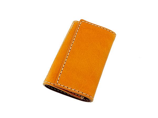 送料無料 日本製 ハンドメイド 財布 メンズ 栃木レザー キーケース 伝統を守り続けた栃木レザーの革を贅沢に使用 キャメル×ダークブラウン ギフト プレゼント お祝い