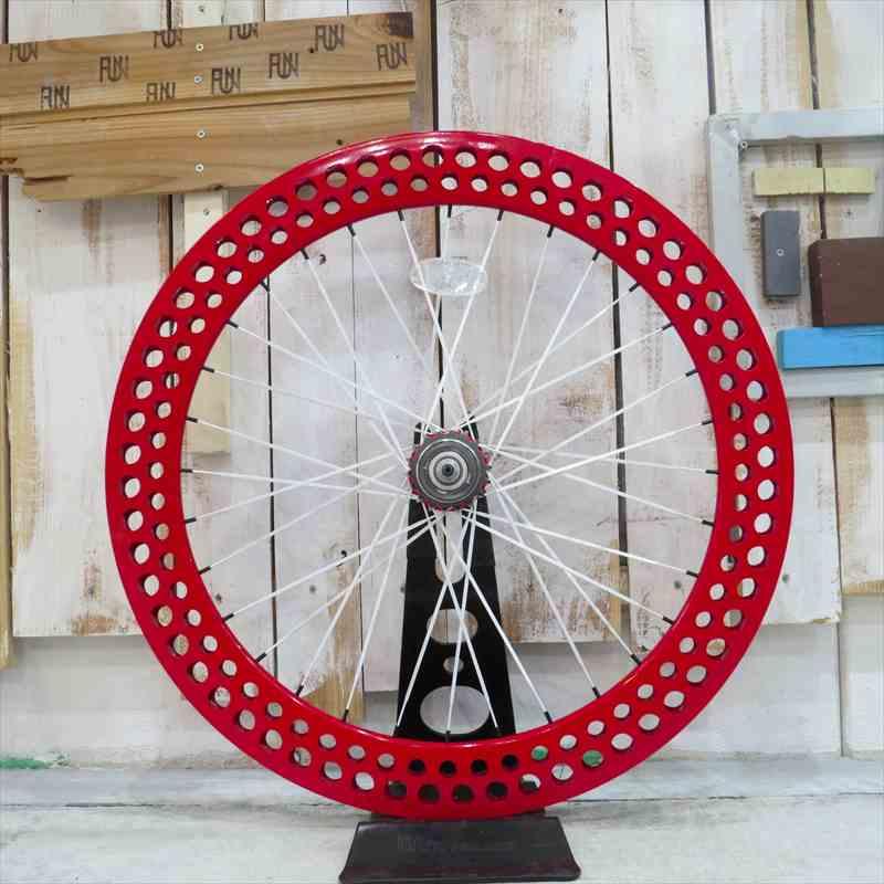 『FUN』【SODAリム】レッド※リアホイール単品[ピスト][パーツ][ピストパーツ][自転車][ホイール][コグ付][クリンチャー][完組][ライダーズカフェ]