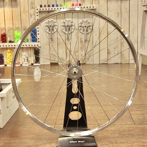 『FUN』【700C Narrow Wheel】※リアホイール単品ハイポリッシュ[ピスト][ピストバイク][パーツ][トラックレーサー][リム][ホイール][クリンチャー][完組][ライダーズカフェ][700C][23C]