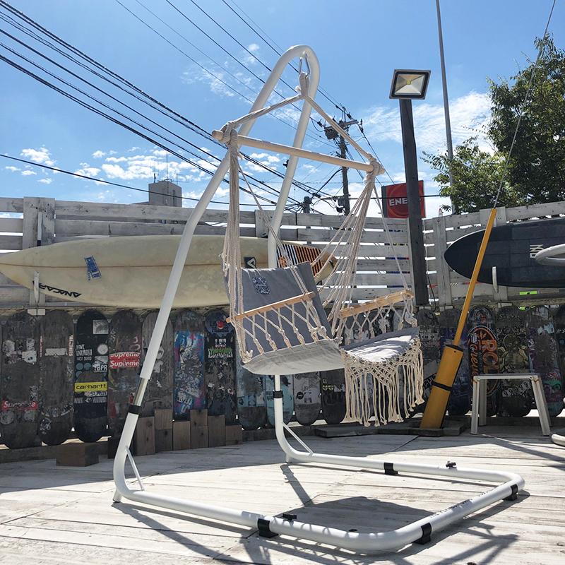 SUBURBAN 自立式ハンモックスタンド【チェア用】耐荷重120kg ハンモックチェア ハンモックシート アウトドア キャンプ インテリア ブランコ