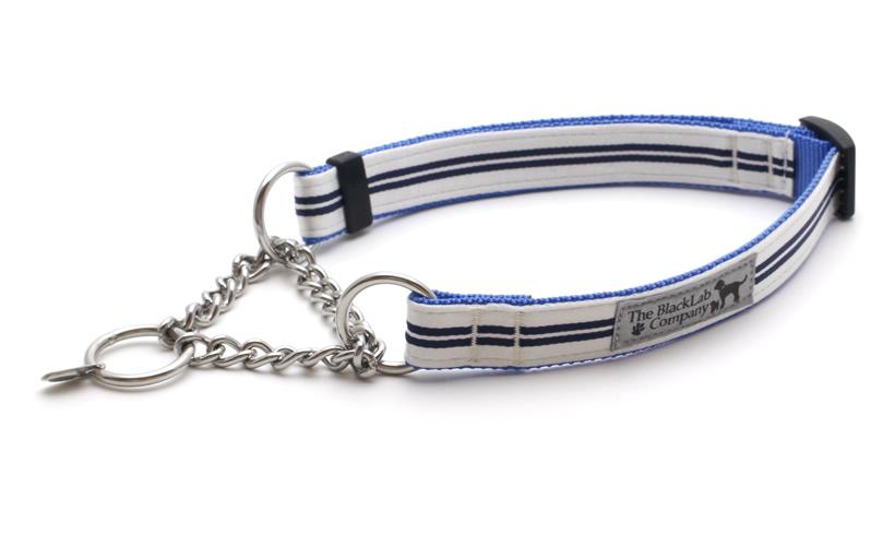 公式通販 Mサイズハーフチョーク しつけにもオススメ ハーフチョーク首輪 Mサイズ BLCハーフチョーク 最安値 ダブルラインシルバーホワイト