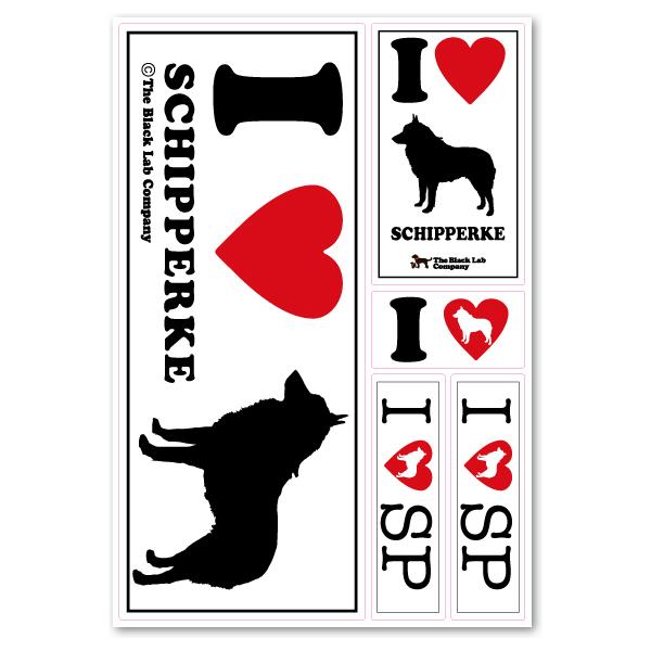 ◆シッパーキー◆I Love ステッカー