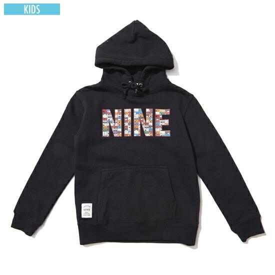 ナインルーラーズ NINE RULAZ LINE Sneaker Box Logo Kids Hoodie キッズ パーカー スウェット 子供服 ブラック