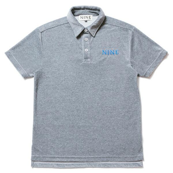 NINE RULAZ LINE ナインルーラーズ Velour Polo Shirt ポロシャツ ベロア NRSS17-023 グレー