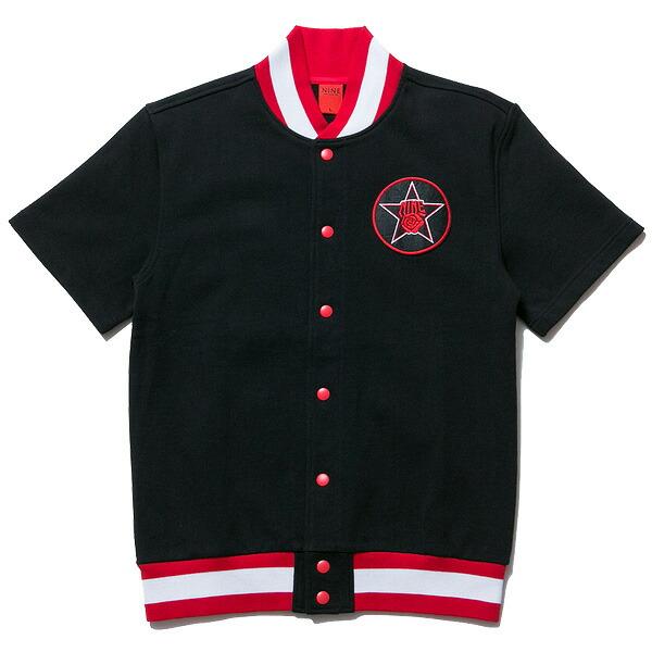 送料無料 NINE RULAZ LINE ナインルーラーズ Warm Up Game Shirt 半袖 シャツ スウェット NRSS17-027 ブラック