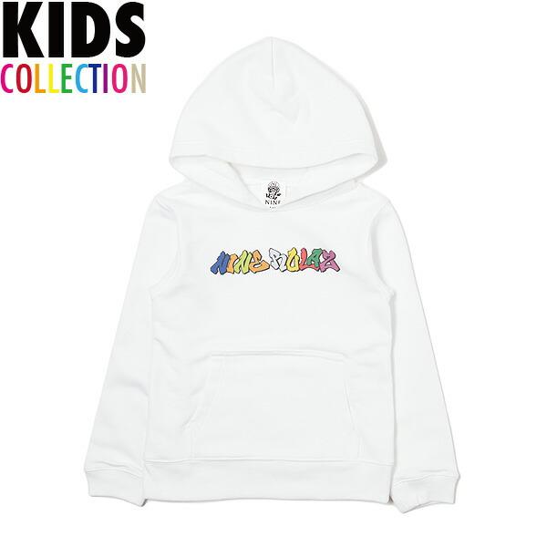 NINE RULAZ LINE キッズ ナインルーラーズ Kid's Graffiti Logo Hoodie パーカー プルオーバー 子供服 NRKAW17-009 ホワイト