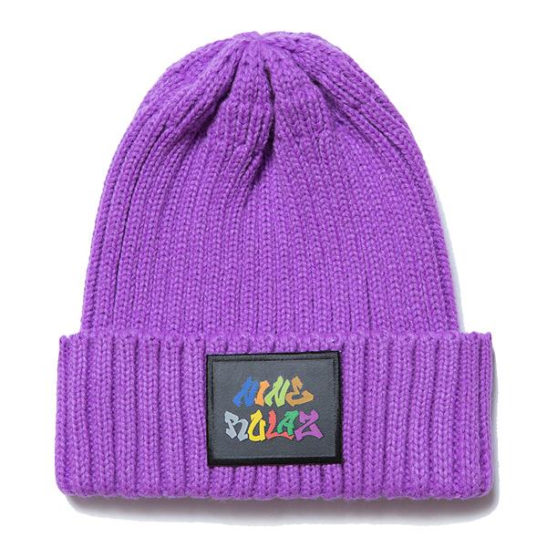 241fed4f858ec blackstore  NINE RULAZ LINE nine ruler Graffiti Logo Knit Cap knit cap  NRAW17-046 purple