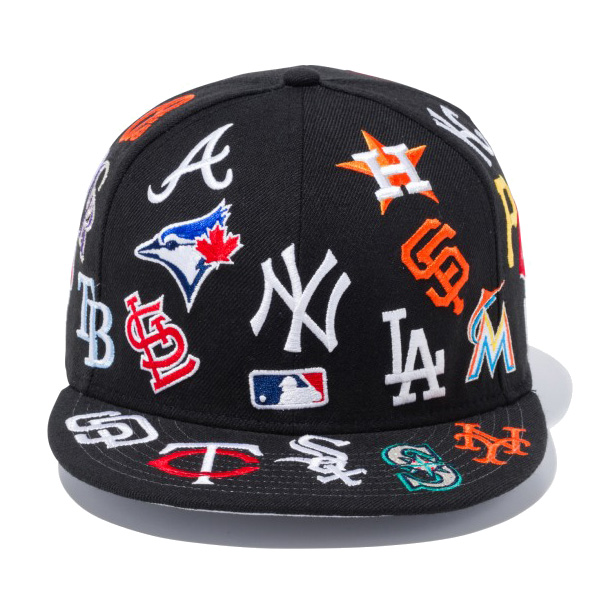 5b7ff9afc91 New gills snapback cap hat NEW ERA 9FIFTY team logo All-over style MLB  11783502 black