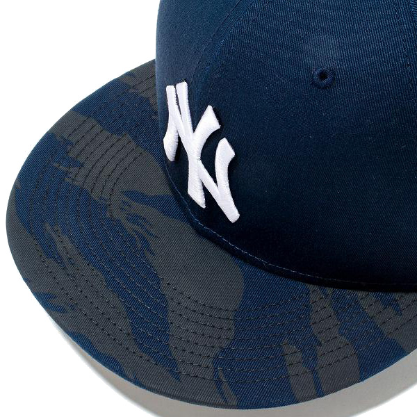 4e77cf3956b New gills snapback cap hat NEW ERA 9FIFTY New York Yankees 11775354 navy X  white tie Garth tripe duck navy visor