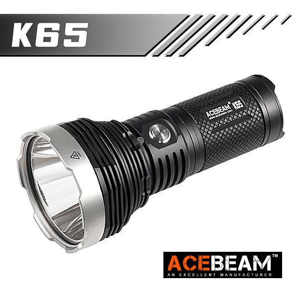 【ACEBEAM(エースビーム)】K65 Cree XHP70.2 LED Max6200ルーメン/照射距離1014M/18650バッテリー/閃光ハンドライト 米国 アメリカ