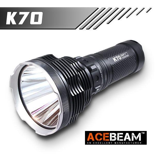【ACEBEAM(エースビーム)】ハンドライト[リフレクタータイプ・OP] K70 Cree(クリー) XLamp/XHP35 HI Max2600ルーメン/照射距離1300M★閃光ハンドライト 米国 アメリカ
