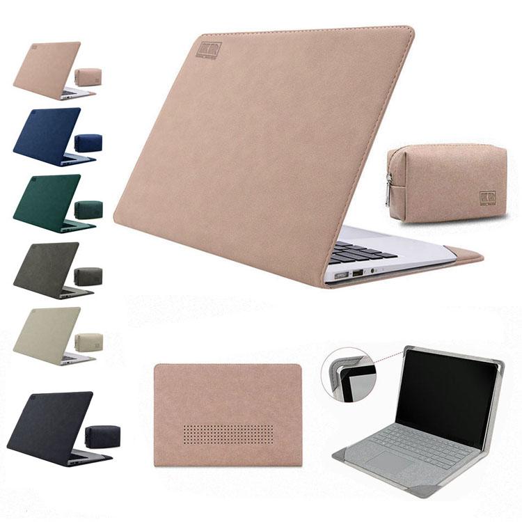 Surface Laptop 3 (13.5インチ) (13.5インチ) /Surface Laptop 2 /Surface Laptop ケース/カバー 手帳型 レザー 電源収納ポーチ付き おしゃれ サーフェス ラップトップ3/2/1用 耐衝撃 手帳型タイプ レザーケース/カバー おすすめ おしゃれ タブレットケース/カバー