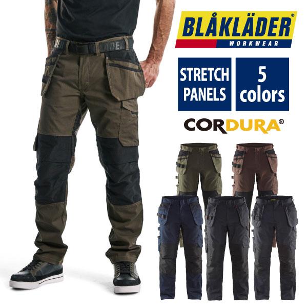 BLAKLADERのリップストップネイルポケットトラウザー 即日出荷 カーゴパンツ メンズ 作業ズボン 作業服 定番キャンバス かっこいい 1496-1330 高い素材 BLKALDER 作業着 送料無料 ブラックラダー