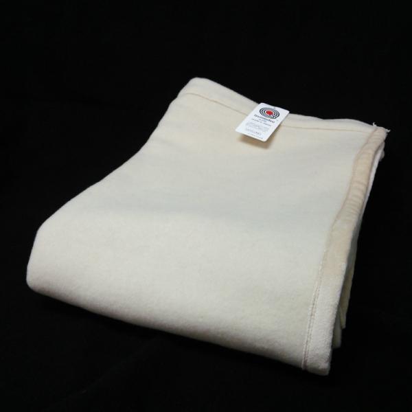 ラムウール毛布 ダブルサイズ 日本製 えり元折り返し 送料無料 工場直販 産地直送