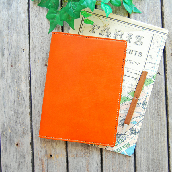 Leather book cover B6 / each diary size to order