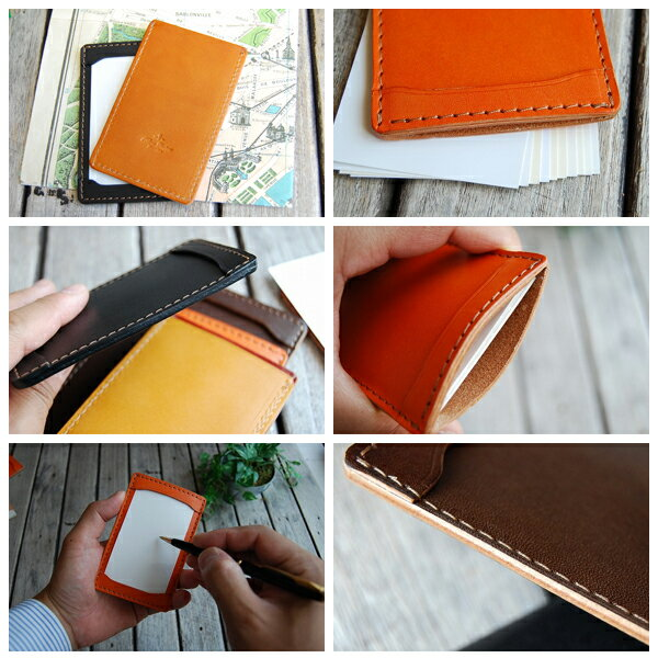 Blanccouture leatherworkshop rakuten global market jotter notepad jotter notepad leather business card size reheart Image collections