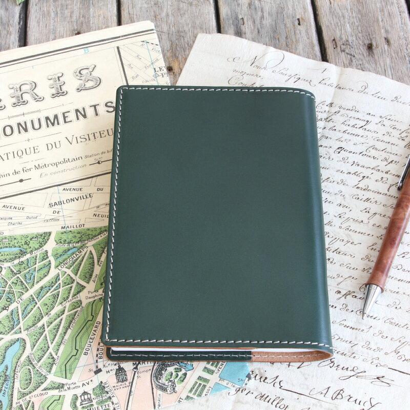 文庫本ノートにほぼ日手帳カバーと6色ゲルボールペン