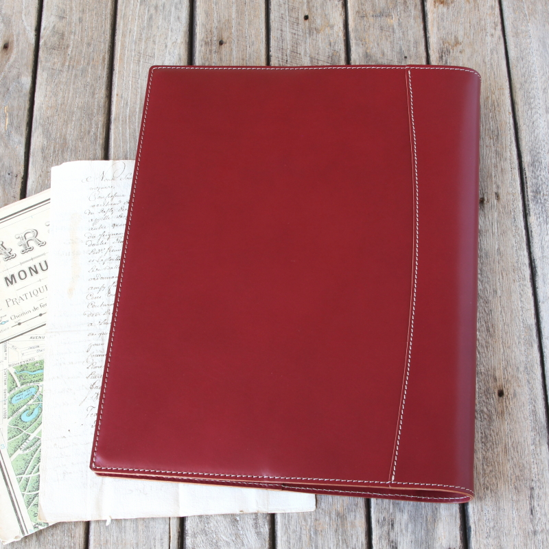 Loose-leaf binder A4 leather 30 holes / domestic fultannind leather / A4 file notes
