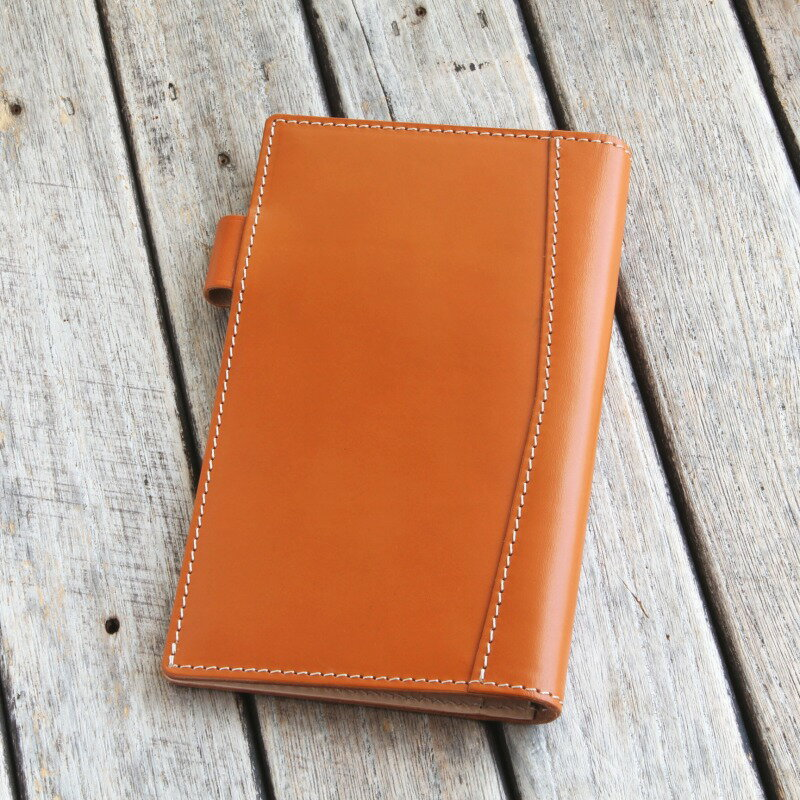 System Organizer Bible Leather 8 mm slim / domestic fultannindresar / system notebook binder by bull ring