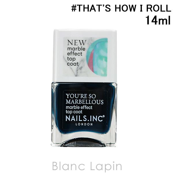 並行輸入品 ネイルズインク オンラインショッピング NAILS INC マーブルエフェクトトップコート #THAT'S 131280 I HOW 14ml 年末年始大決算 ROLL