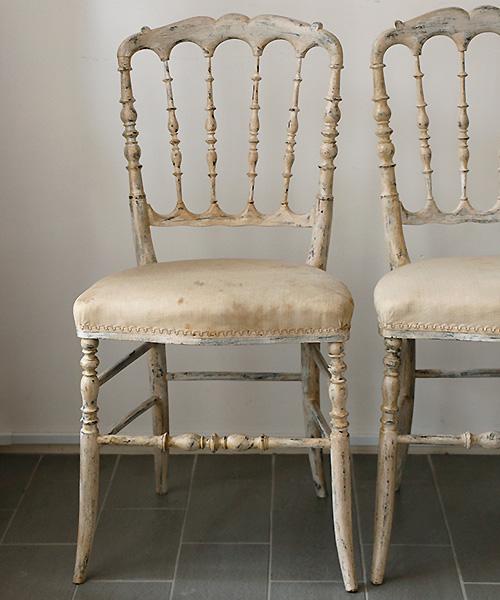アンティーク・ナポレオンチェア・ベージュ1/アンティーク ナポレオンチェア 椅子 ヴィンテージ