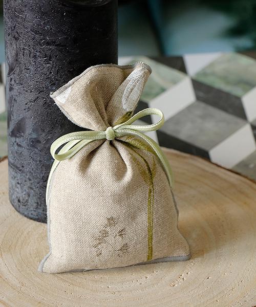 Blanc de Juillet ラベンダーサシェ・ブレンダxシルクグリーン/フランス サシェ ラベンダー 香り袋 アロマ おしゃれ 匂い袋