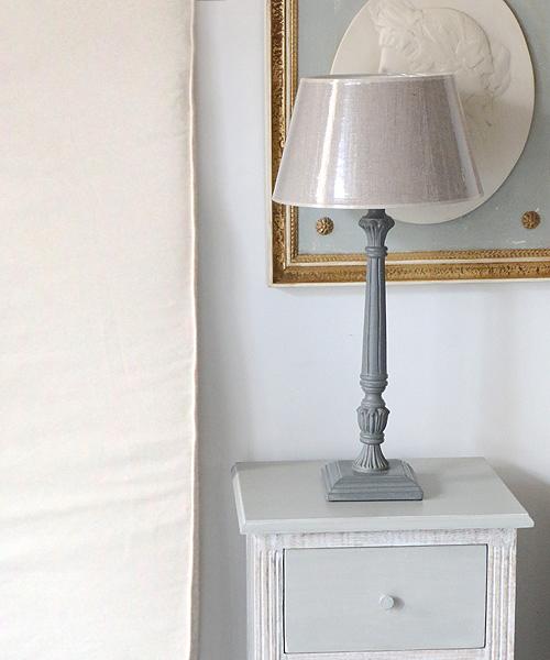 Blanc d 'Ivoire テーブルランプ・トム 照明 テーブルランプ シェード 間接照明 アンティーク フレンチ ライト シャビー モダン 輸入 フランス おしゃれ