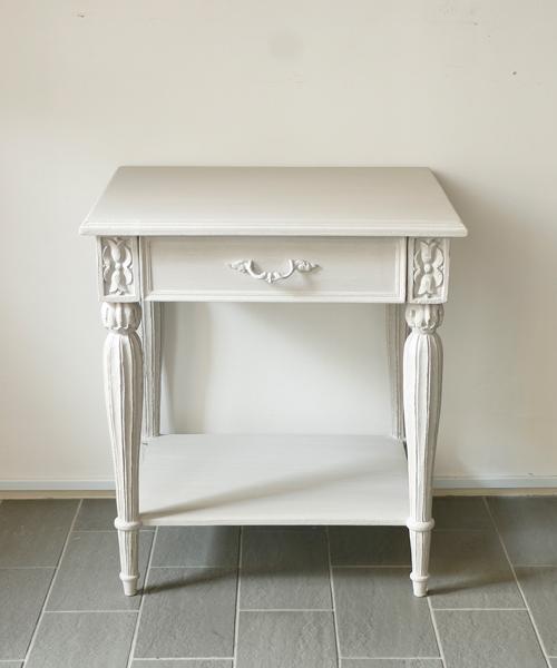 Blanc d 'Ivoire ナイトテーブル・キアラ / フランス ブランディボワール 北欧 家具 イタリア シャビー アンティーク パリ ナチュラル レトロ モダン サイドテーブル