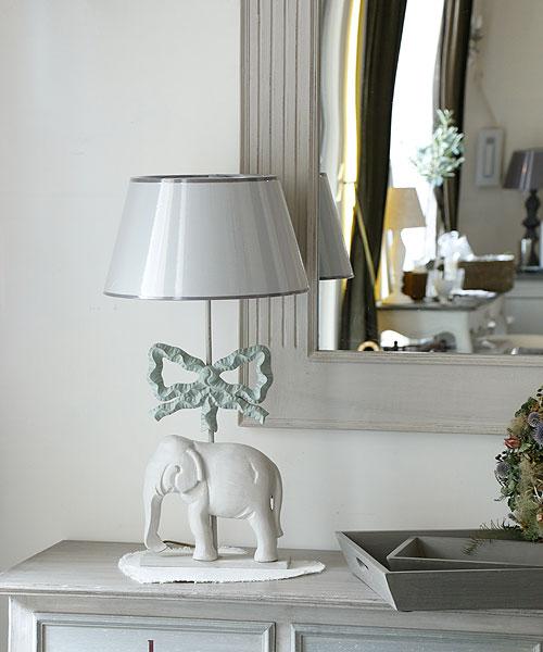 Blanc d 'Ivoire テーブルランプ・ロザリー/ 照明 スタンドランプ 間接照明 インテリア照明 アンティーク フレンチインテリア フロアライト テーブルランプ 北欧 ヴィンテージ インテリア かわいい 【20170809】
