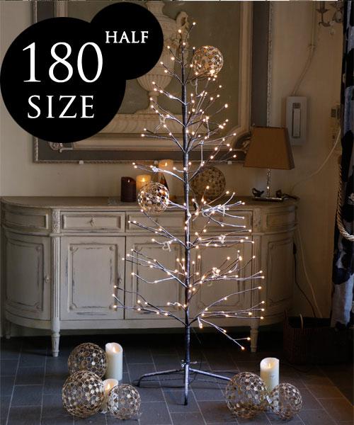 Fiorira un Giardino LEDライトツリー H180cm・半月型/ フィオリラ イルミネーション クリスマスツリー LED 180cm オーナメント 屋外 屋内 ガーランド インテリア かわいい 北欧 パーティ イベント クリスマス アウトドア